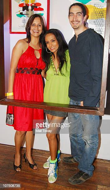 Nisha Harale Suchitra Pillai and Adam Bedi at the launch of Puma Creative factory in Mumbai
