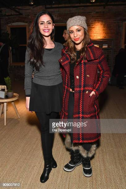Nishi Munshi and Brytni Sarpy attend The Women In Motion Program at The Claim Jumper on January 22 2018 in Park City Utah