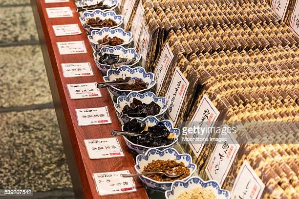 Nishiki mercado em Kyoto, Japão