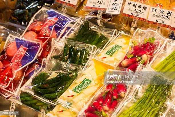 nishiki market in kyoto, japan - airtight stock photos and pictures