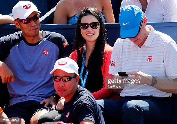 Nishikori girlfriend during the match Kei Nishikori Benoit Paire corresponding to 1/2 final of the Open Banc Sabadell 64 Trophy Conde de Godo played...