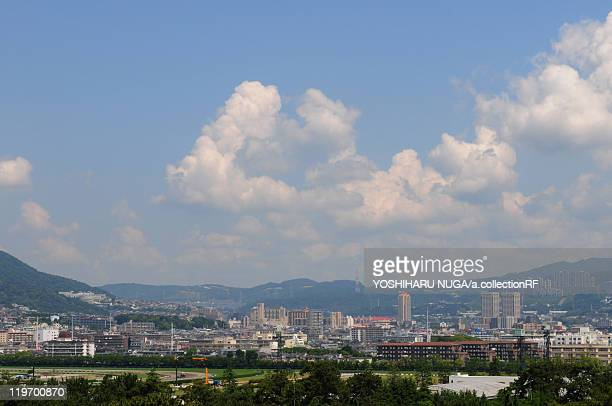 nishinomiya city skyline - 西宮市 ストックフォトと画像