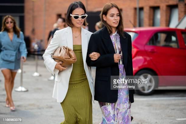 Nisi and Desirée Kastull seen outside By Malene Birger during Copenhagen Fashion Week Spring/Summer 2020 on August 08, 2019 in Copenhagen, Denmark.