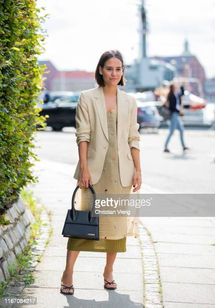 Nisi Kastull is seen outside Stine Goya during Copenhagen Fashion Week Spring/Summer 2020 on August 08, 2019 in Copenhagen, Denmark.