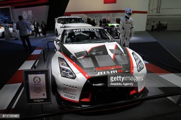 Nismo of Nissan is displayed during Dubai International Motor Show 2017 at Dubai World Trade Centre in Dubai United Arab Emirates on November 14 2017