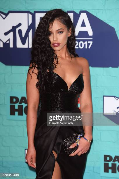 Nisrine Sbia attends the MTV EMAs 2017 held at The SSE Arena Wembley on November 12 2017 in London England