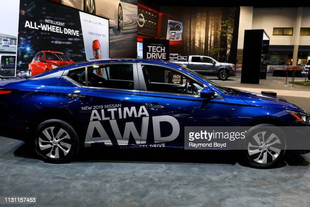 Nissan Altima is on display at the 111th Annual Chicago Auto Show at McCormick Place in Chicago, Illinois on February 8, 2019.