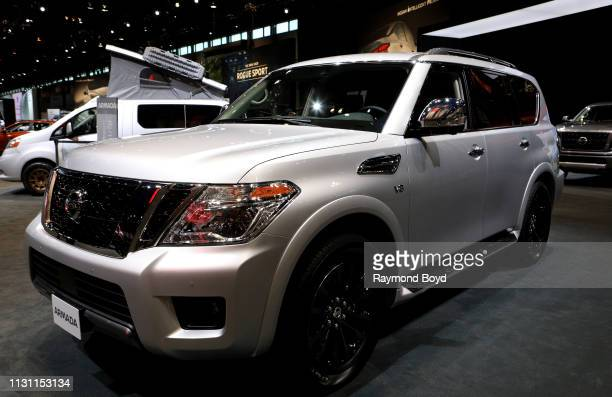 Nissan Armada is on display at the 111th Annual Chicago Auto Show at McCormick Place in Chicago Illinois on February 8 2019