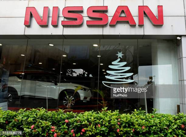Nissan car showroom in Kolkata, India, 24 July, 2019. Japanese car maker Nissan Motor Company Limited plans to cut more than 10,000 jobs to revive...
