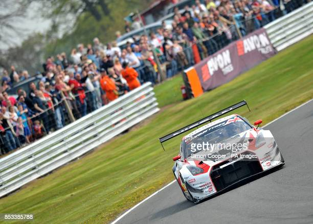 Nissan GT Academy Team's Sir Chris Hoy during Race One of the Avon Tyres British GT Championship at Oulton Park, Cheshire. PRESS ASSOCIATION Photo....