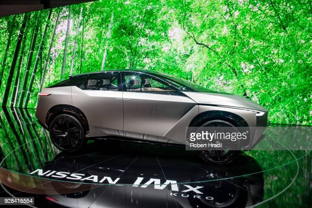 Nissan IMx Kuro is displayed at the 88th Geneva International Motor Show on March 7 2018 in Geneva Switzerland Global automakers are converging on...