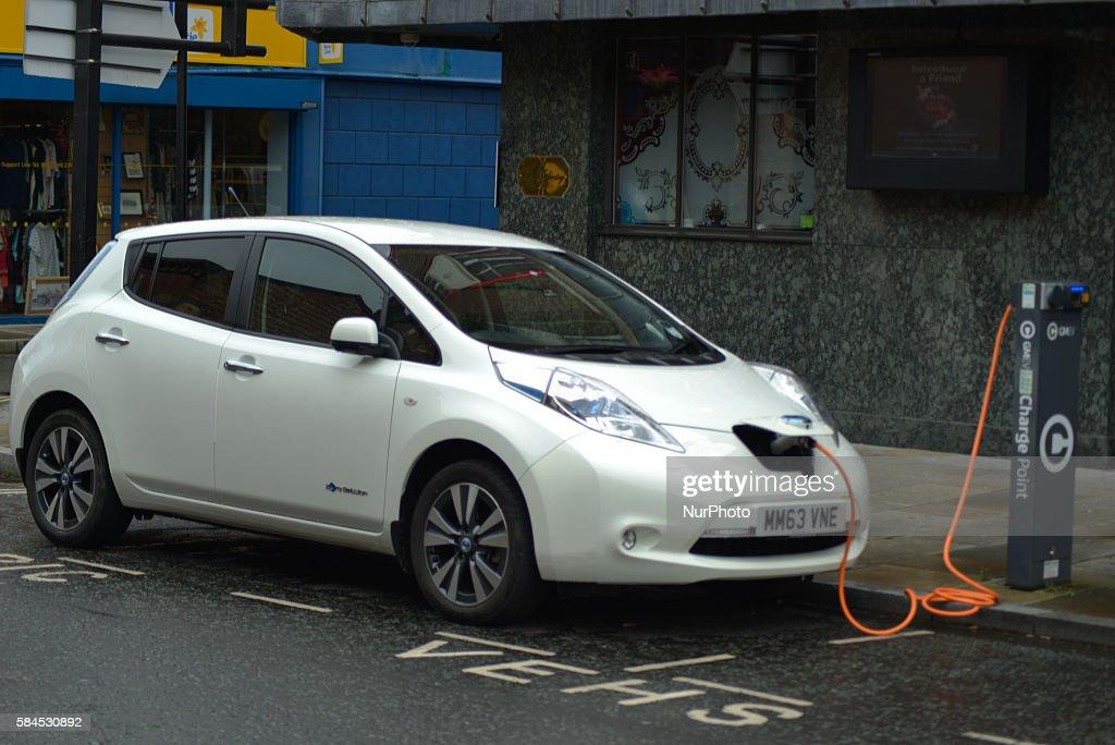 Nissan Leaf electric-car : News Photo