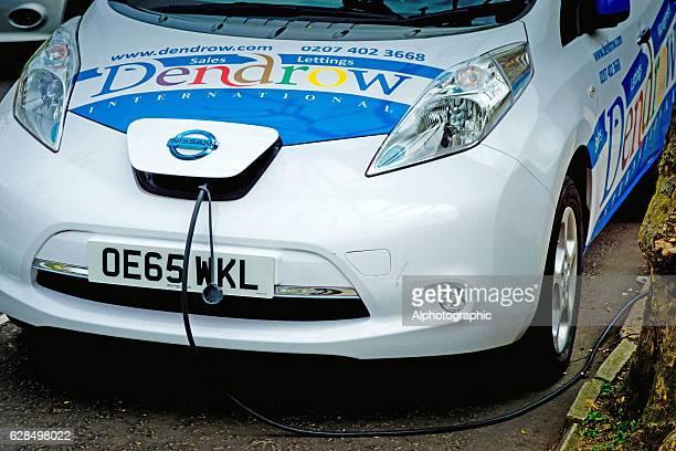 Nissan Leaf electric vehicle charging
