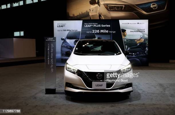 Nissan Leaf Plus is on display at the 111th Annual Chicago Auto Show at McCormick Place in Chicago, Illinois on February 7, 2019.