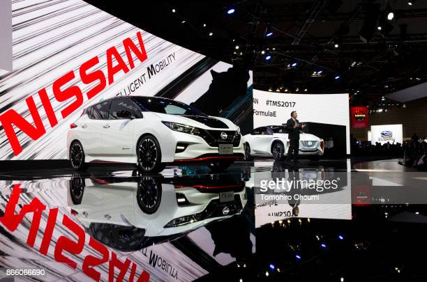 Nissan Motor Co Executive Vice President Daniele Schillaci speaks during the Tokyo Motor Show at Tokyo Big Sight on October 25 2017 in Tokyo Japan...