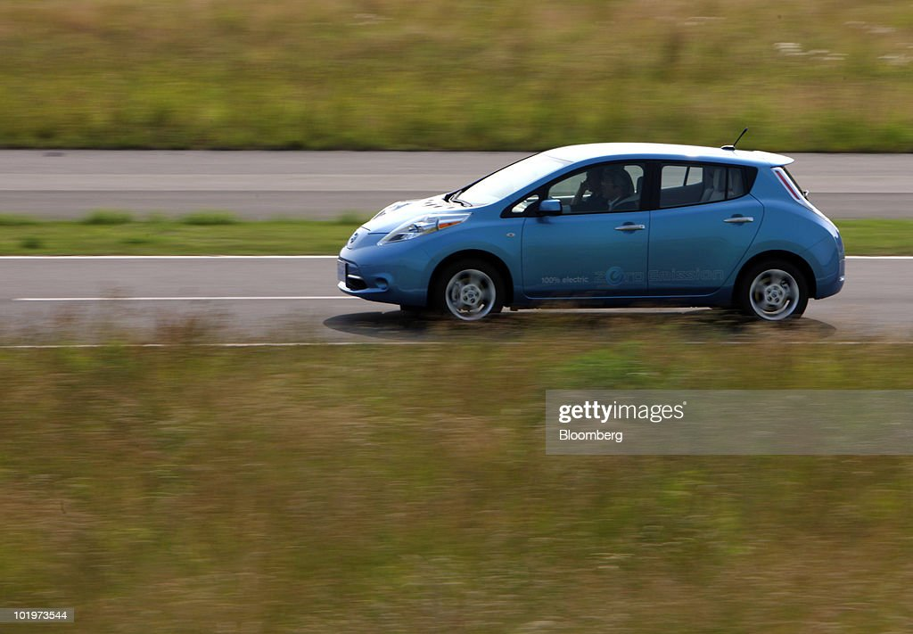 Nissan Leaf Electric Car Test Drive Photos And Images Getty Images