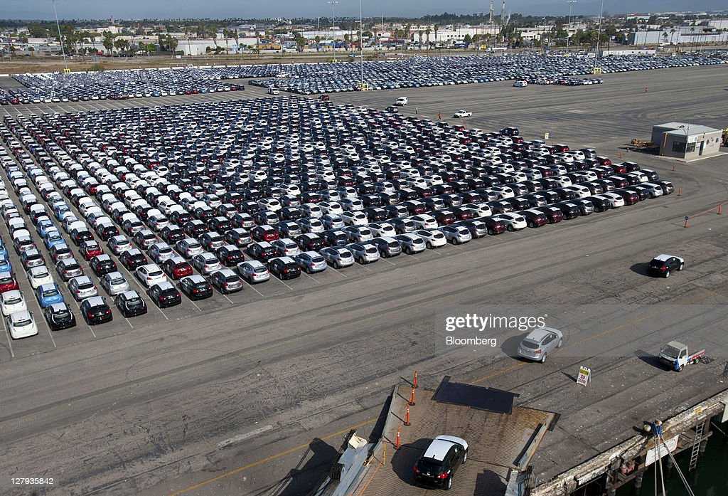General Imagery From Vehicles Being Off-Loaded At The Port Of LA : News Photo
