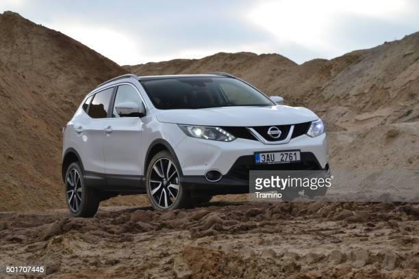 nissan qashqai at the test drive - nissan qashqai stock pictures, royalty-free photos & images