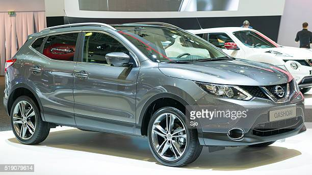 nissan qashqai crossover suv - nissan qashqai stock pictures, royalty-free photos & images