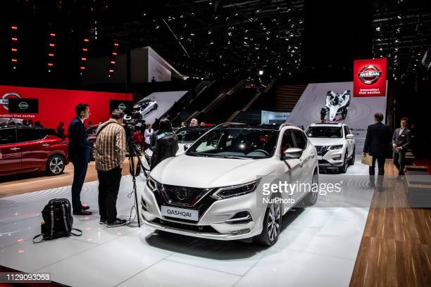 Nissan Qashqai during the Geneva International Motor Show Gims in Geneva Switzerland from 7 to 17 of March