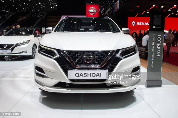 Nissan Qashqai is displayed during the second press day at the 89th Geneva International Motor Show on March 6, 2019 in Geneva, Switzerland.