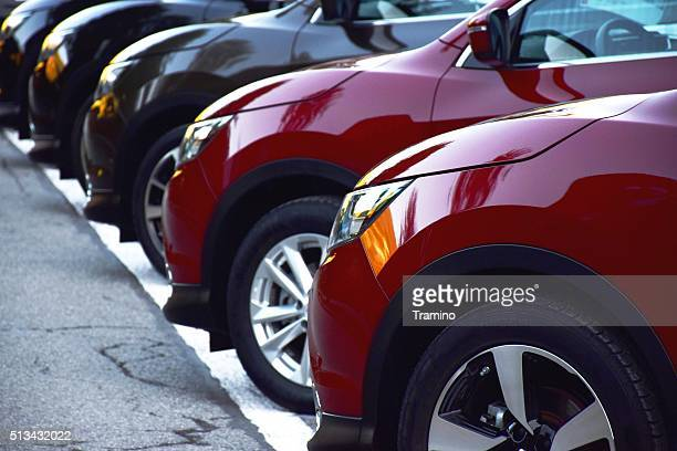 Nissan Qashqai vehicles on the parking