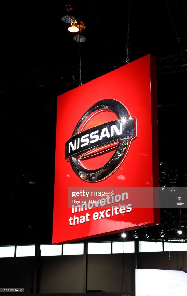 Nissan signage is on display at the 110th Annual Chicago Auto Show at McCormick Place in Chicago, Illinois on February 9, 2018.
