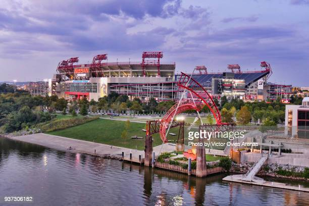 Nissan Stadium home field of the Tennessee Titans of the National Football League