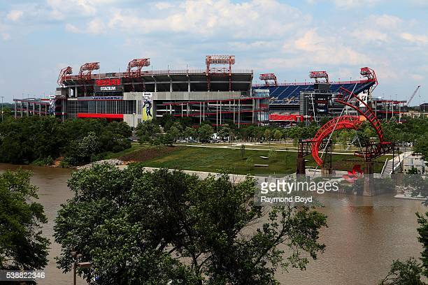 Nissan Stadium, home of the Tennessee Titans football team in Nashville, Tennessee on May 27, 2016.
