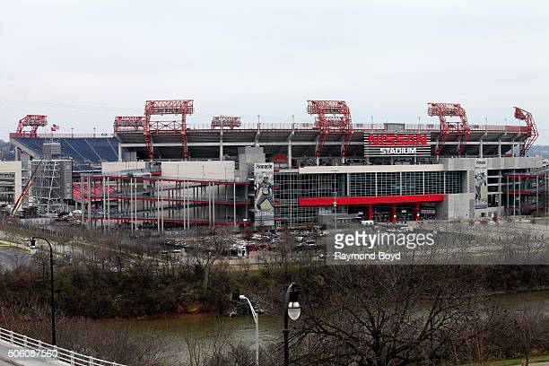 Nissan Stadium, home of the Tennessee Titans football team on December 31, 2015 in Nashville, Tennessee.