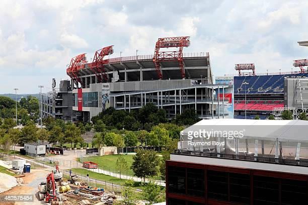 Nissan Stadium , home of the Tennessee Titans football team on July 19, 2015 in Nashville, Tennessee.