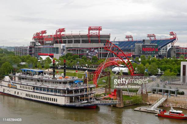 Nissan Stadium hosts the NFL Experience on day 1 of the 2019 NFL Draft on April 25, 2019 in Nashville, Tennessee.