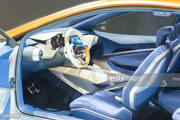 Conceito interior de carro Nissan oscilar