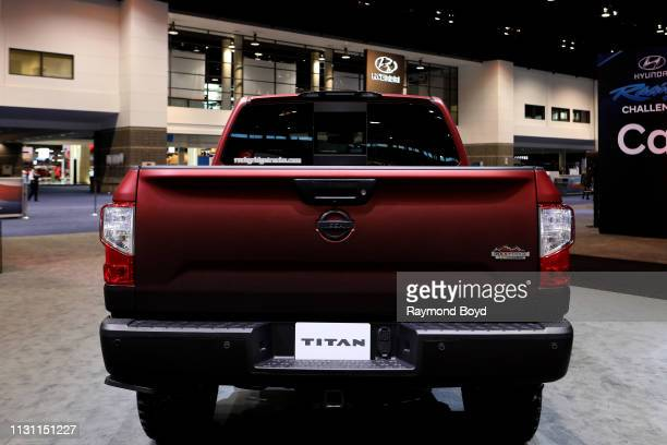 Nissan Titan is on display at the 111th Annual Chicago Auto Show at McCormick Place in Chicago Illinois on February 8 2019