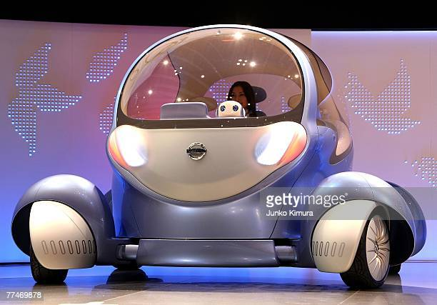 Nissan's concept car Pivo 2 is introduced during the press day of the 40th Tokyo Motor Show at Makuhari Messe, on October 24, 2007 in Chiba...