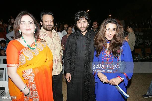 Nita Ambani Shekhar Kapoor and Saif Ali Khan with Amrita Singh