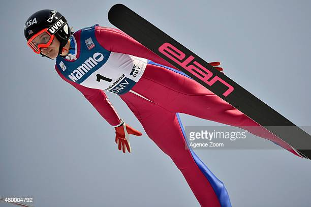 Nita Englund of USA competes during the FIS Ski Jumping World Cup Women's HS100 on December 05 2014 in Lillehammer Norway