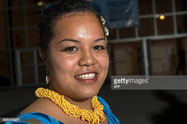 Nita Pihigia a 25yearold teacher poses on December 3 2013 in Niue one of the smallest countries in the world in the Pacific Ocean Pihigia will take...