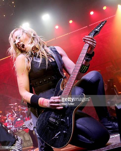 Nita Strauss performs in concert with Alice Cooper at the HEB Center on July 29, 2019 in Cedar Park, Texas.