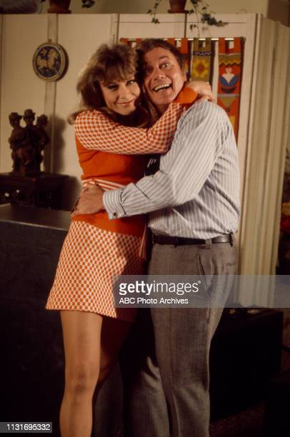 Nita Talbot Larry Hagman appearing on the Walt Disney Television via Getty Images tv series 'Here We Go Again'