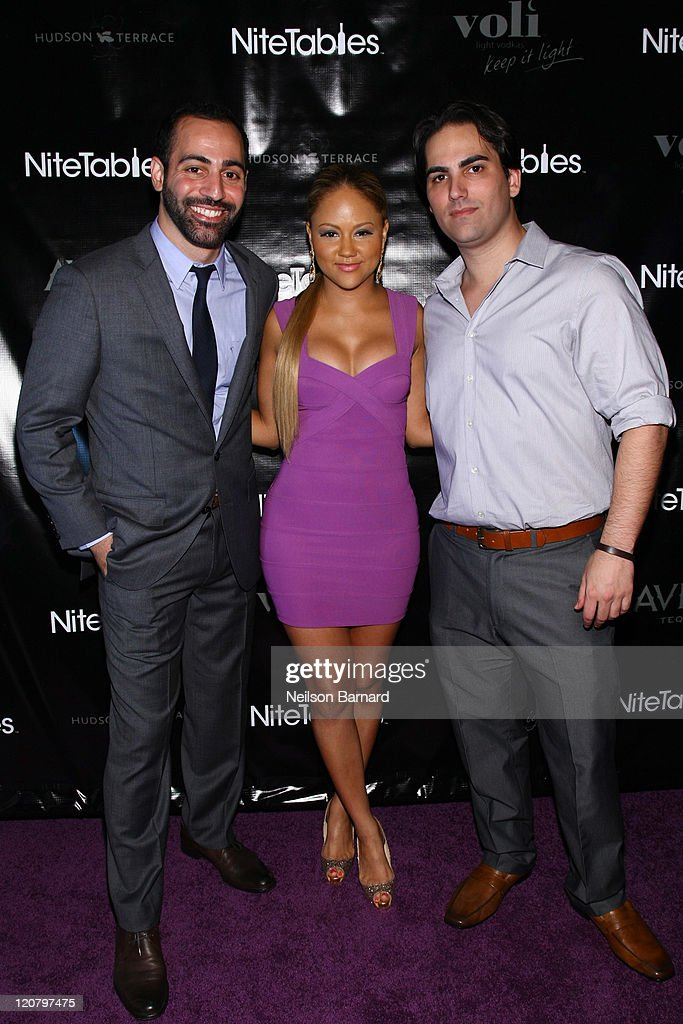 NiteTables Co Founder Matt Bosso, Kat DeLuna And NiteTables Founder Adam  Alson Attend NiteTables