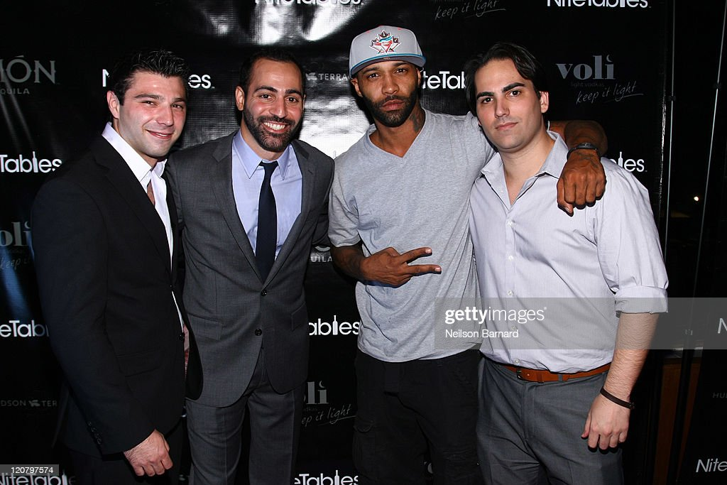 NiteTables Co Founders Jonathan Zimmeril And Matt Boso, Joe Budden And  NiteTables Founder Adam
