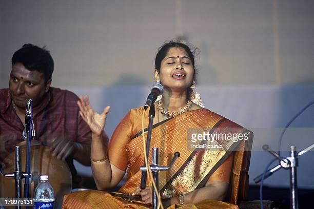 Nithyasree Mahadevan an eminent musician Chennai Tamil Nadu India