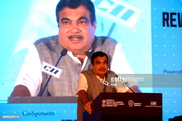 Nitin Gadkari Minister for Road Transport Highways and Shipping speaks during a seminar on opportunities in Roads and Highways during Make In India...