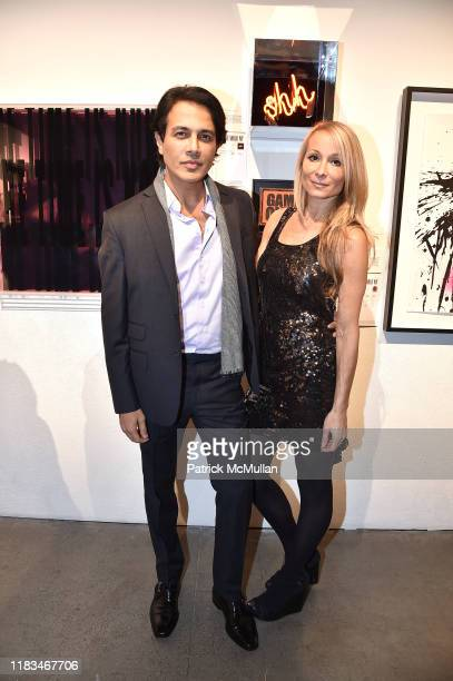 Nitin Gambhir and Indira Cesarine attend 25th Annual ARTWALK NY Benefiting Coalition For The Homeless Presented By Max Mara at Spring Studios on...