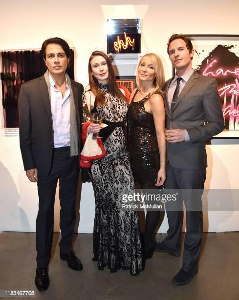 Nitin Gambhir Emerald Gruin Indira Cesarine and Kurt McVey attend 25th Annual ARTWALK NY Benefiting Coalition For The Homeless Presented By Max Mara...