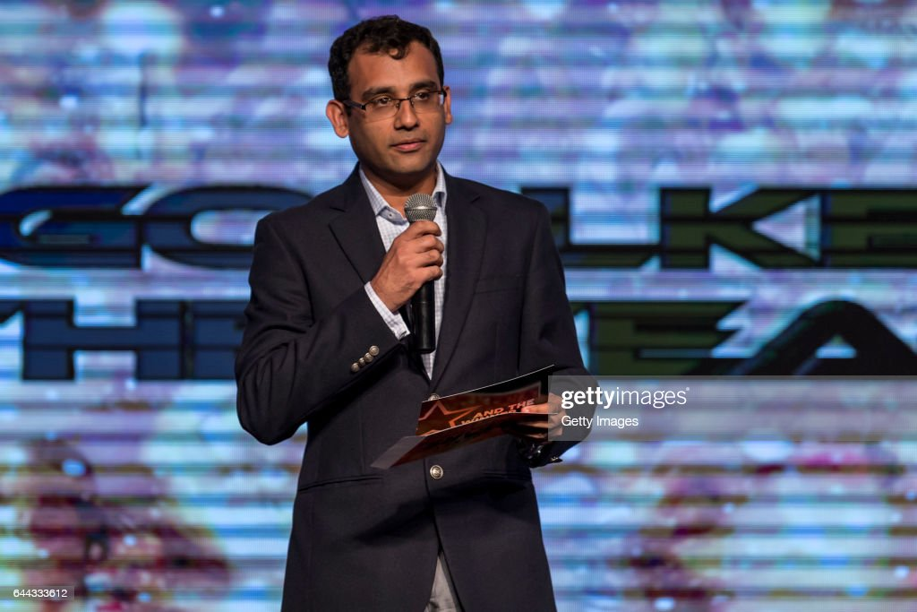 Nitin Kukreja of Star Sports speaks during the FIH Hockey Stars Awards 2016 at Lalit Hotel on February 23 2017 in Chandigarh India