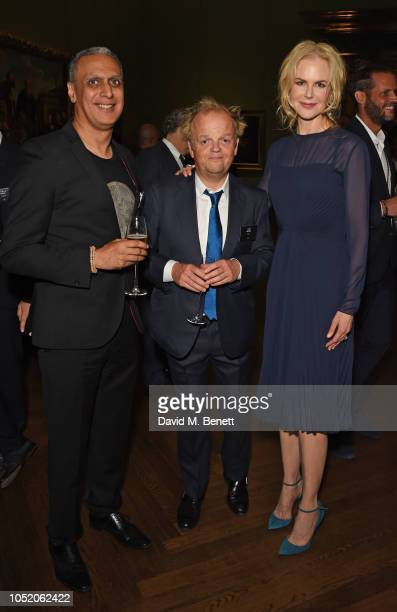 Nitin Sawhney Toby Jones and Nicole Kidman attend the Academy Of Motion Pictures Arts and Sciences 2018 new members party at The National Gallery on...