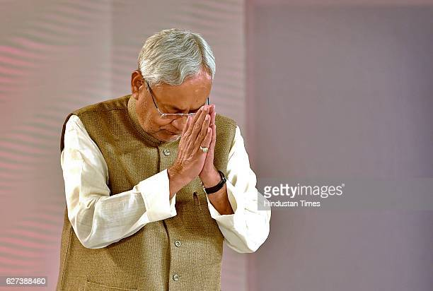 Nitish Kumar Chief Minister of Bihar during the Hindustan Times Leadership Summit 2016 at Taj Palace on December 3 2016 in New Delhi India