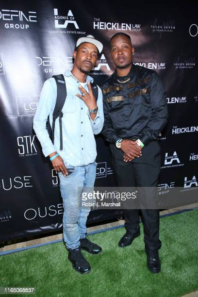NitroGeez and Yung Muusik attend VH1 Viewing Launch Party for Love Listings on July 29 2019 in Encino California